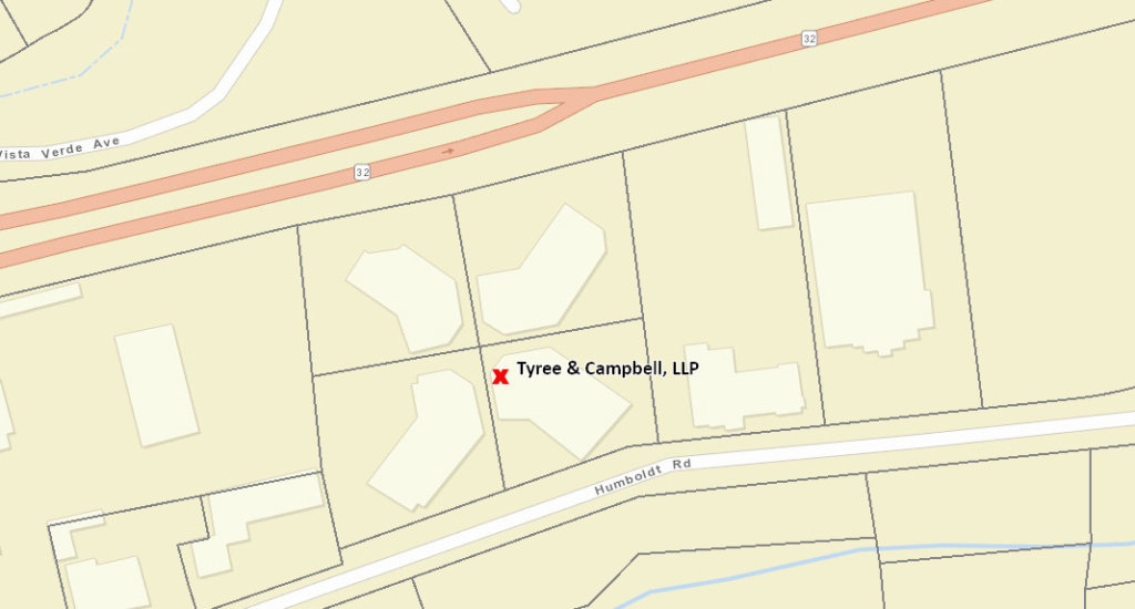map of 1600 Humboldt Rd, Suite 170, Chico, CA 95928